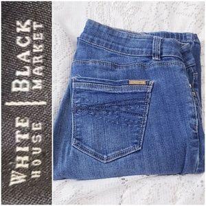 WHBM BOOT LEG blue jeans *sz 4R